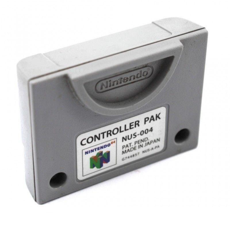 Original Nintendo Controller Pak / Memory Card #grau NUS-004