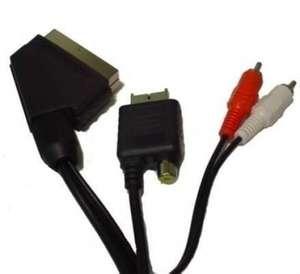 RGB Scartkabel / Scart Kabel mit Cinch Audio Out und AV Adapter für Guncon #schwarz