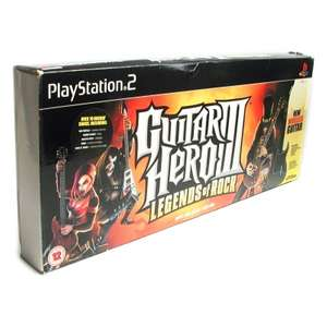 Gitarre / Guitar Wireless #schwarz Guitar Hero Legends of Rock Controller + Spiel