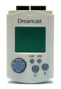 Original Visual Memory Unit / VMU - Memory Card #weiß HKT-7000 [Sega]