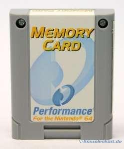 Memory Card / Memorycard / Speicherkarte / Controller Pak [Performance]