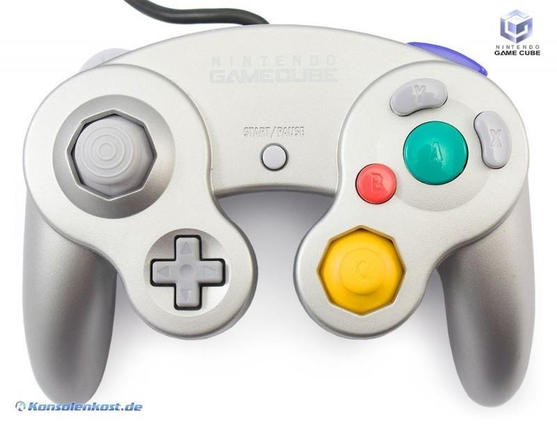 GameCube - Original Nintendo Controller / Pad #silber DOL-003