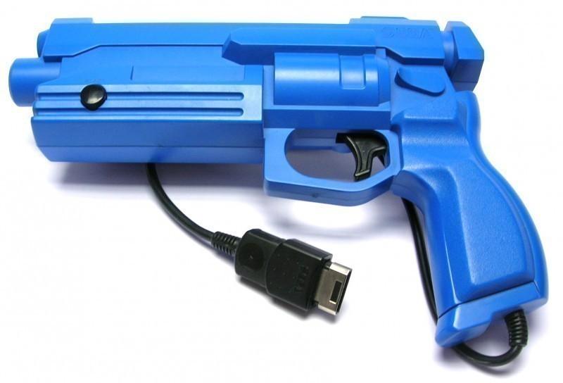Original Virtua Gun / Light Gun / Lightphaser MK-80311 #blau