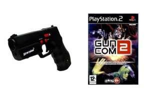 Light Gun / Pistole / Phaser #schwarz Scorpion 3 + Spiel Guncom 2