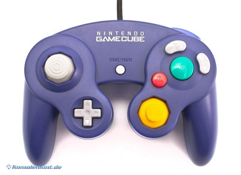 GameCube - Original Nintendo Controller / Pad #lila DOL-003