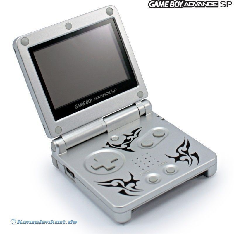 GameBoy Advance - Konsole GBA SP #Tribal Edition / Tattoo Version + Netzteil