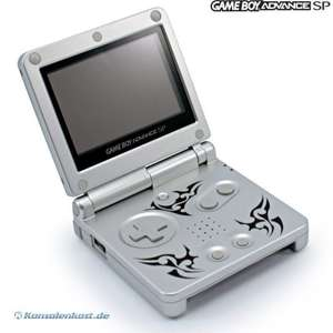 Konsole GBA SP #Tribal Edition / Tattoo Version + Netzteil