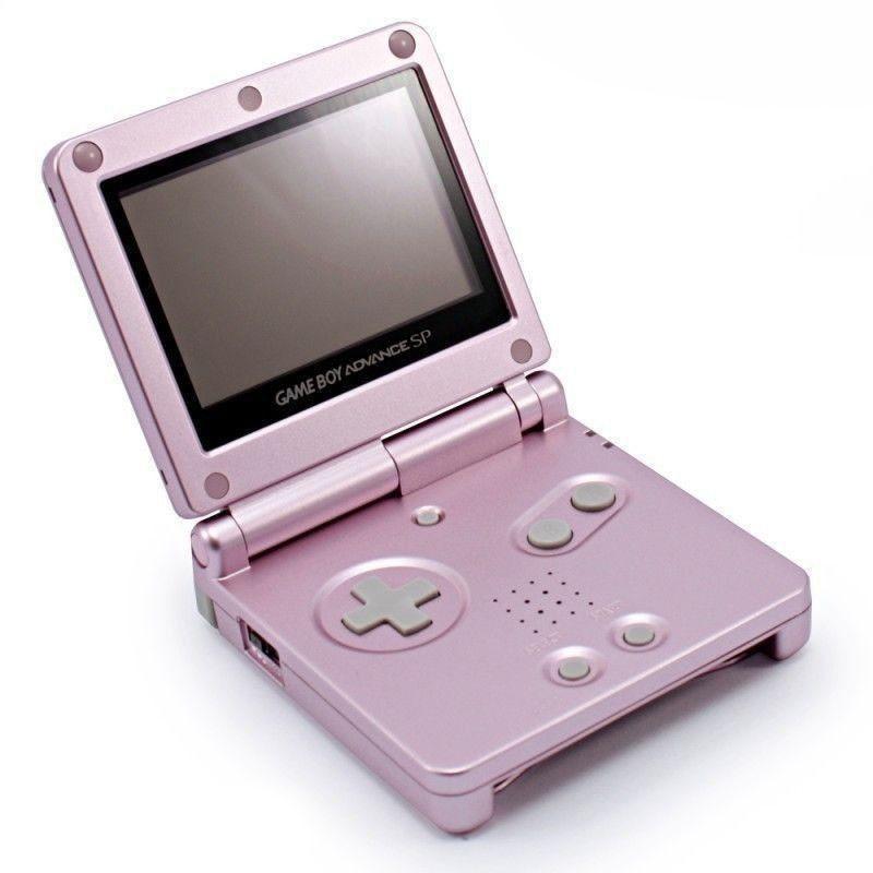 GameBoy Advance - Konsole GBA SP #rosa - pink + Netzteil