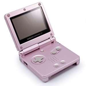 Konsole GBA SP #rosa - pink + Netzteil