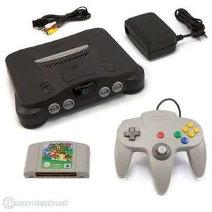 Konsole + Super Mario 64 + Controller #grau + Zubehör