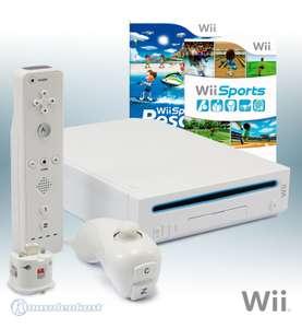 Konsole #weiß + Wii Sports + Sports Resort + Remote + Motion Plus Adapter + Zubehör