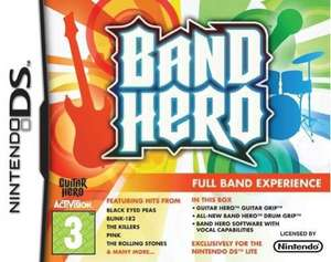 Band Hero + Guitar Grip + Drum Grip Controllers