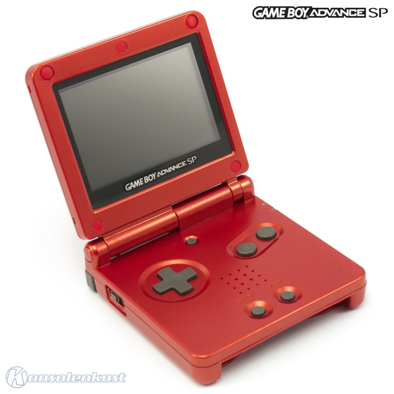 Konsole GBA SP #rot Flame Red + Netzteil