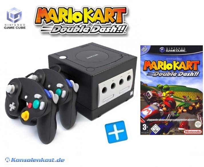 Konsole #schwarz + Mario Kart + 2 Controller + Zubehör