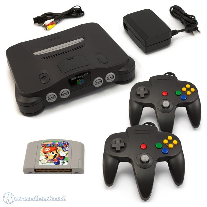 Konsole + Mario Party + 2 Controller + Zubehör