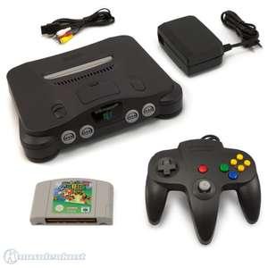 Konsole + Mario 64 + Controller #schwarz + Zubehör