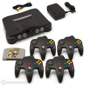 Konsole + Mario Kart + 4 Controller + Zubehör