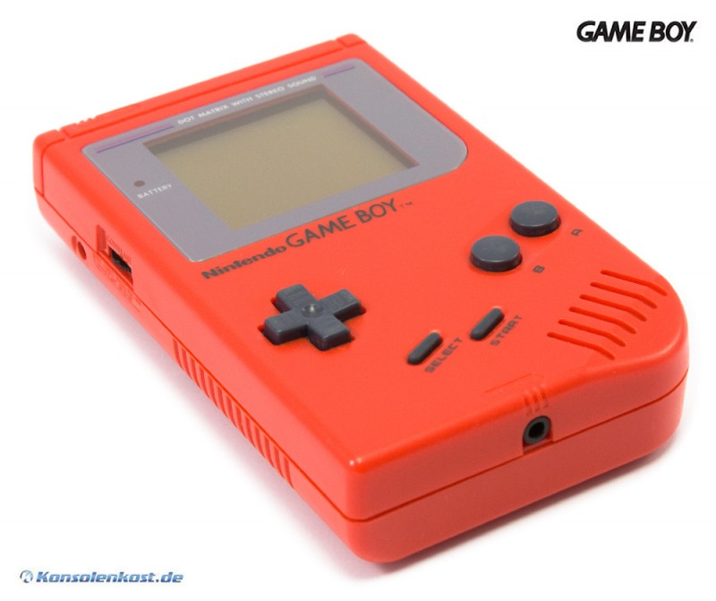 GameBoy - Konsole #rot - Classic 1989 DMG-01 Red Zora