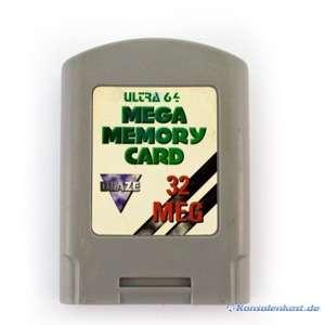 Memory Card / Memorycard / Speicherkarte / Controller Pak 32 MB Ultra 64 [Blaze]
