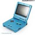 Konsole GBA SP AGS-101 #Surf Blue + Netzteil