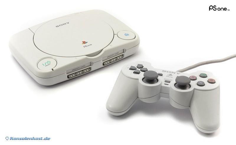 Konsole PSOne Slim + Original DualShock Controller + Zubehör