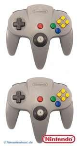 2 Original Nintendo Controller NUS-005 #grau