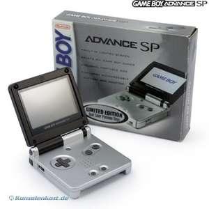 Konsole GBA SP Limited Platinum Onyx Edition + Netzteil