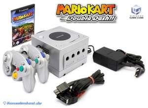 Konsole #silber + Mario Kart + 2 Controller + Zubehör