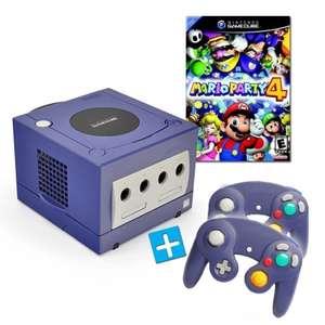 Konsole #lila + Mario Party 4 + 2 Controller + Zubehör