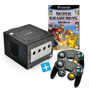 Konsole #schwarz + Super Smash Bros. Melee + 2 Controller + Zubehör
