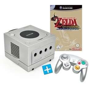 Konsole #silber + Zelda + Controller + Zubehör