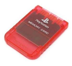 Original Sony Memory Card / Memorycard / Speicherkarte #rot-transp.