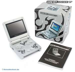Konsole GBA SP AGS-101 #Tribal Edition + Netzteil