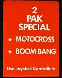 2 Pak Special: Motocross + Boom Bang
