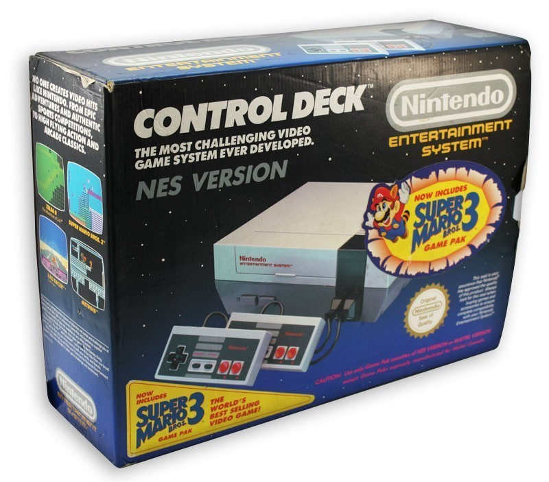 Konsole #Super Mario Bros. 3 Set + Spiel + 2 Original Controller + Zubehör