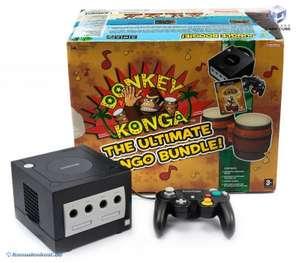 Konsole #Donkey Konga Pak + Spiel + Bongos + Controller + Zubehör