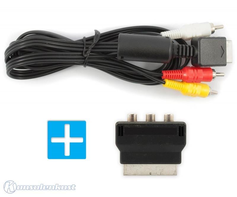 AV Cinchkabel / Cinch Kabel + Scart Adapter