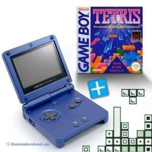 Bundle: Konsole GBA SP #blau + Tetris + Netzteil
