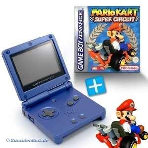 Bundle: Konsole GBA SP #blau + Mario Kart + Netzteil