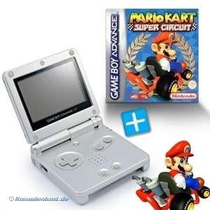Bundle: Konsole GBA SP #silber + Mario Kart + Netzteil