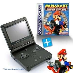Konsole GBA SP #schwarz + Mario Kart + Netzteil