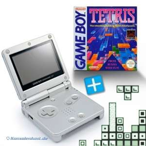 Bundle: Konsole GBA SP #silber + Tetris + Netzteil