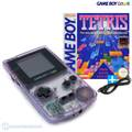 Konsole #Clear/Atomic Purple + Tetris + Linkkabel