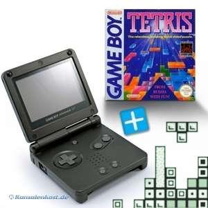 Bundle: Konsole GBA SP #schwarz + Tetris + Netzteil