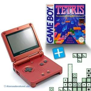 Konsole GBA SP #rot Flame Red + Tetris + Netzteil