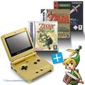 MegaSet: Konsole GBA SP + Zelda II + A Link to the Past + Minish Cap + Netzteil