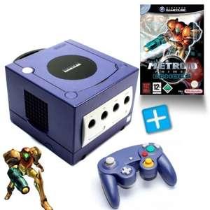 Konsole #lila + Metroid Prime 2 + Controller + Zubehör