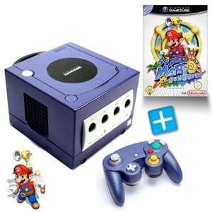 Konsole #lila + Super Mario Sunshine + Controller + Zubehör