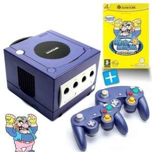 Konsole #lila + Wario Ware Mega Party Games + 2 Controller + Zubehör