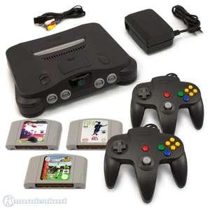 Konsole + FIFA 64 + 98 + ISS + 2 Controller + Zubehör